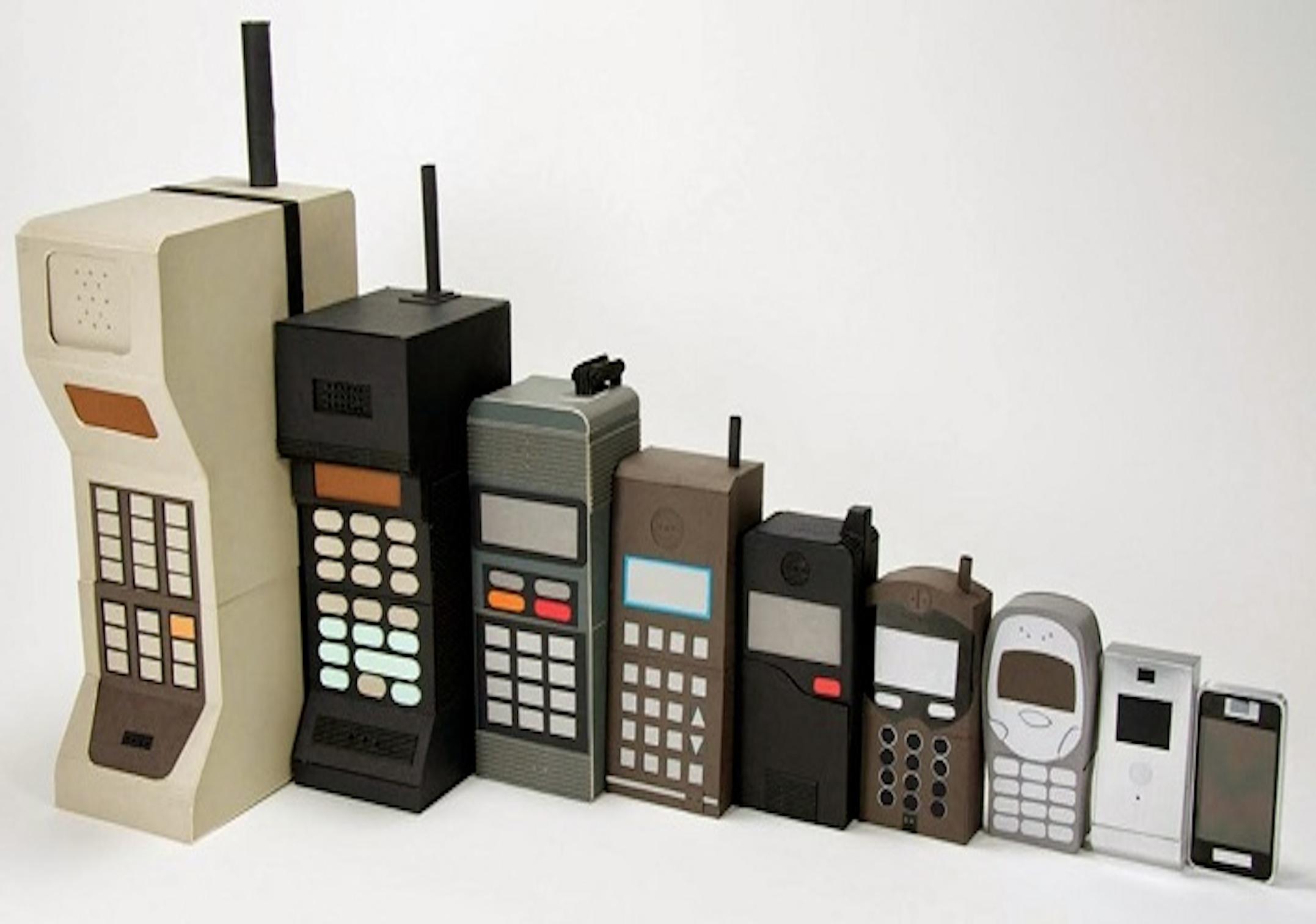手機演化示意圖