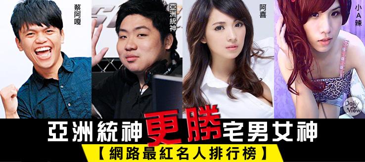 亞洲統神更勝宅男女神!網路最紅名人排行榜