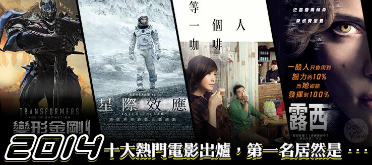 2014下半年十大熱門電影出爐,第一名居然是...
