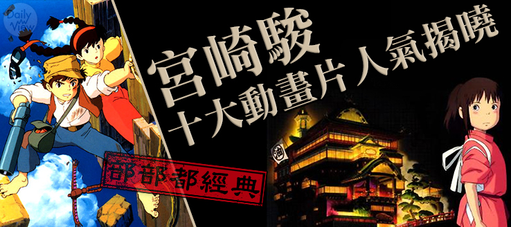 部部都經典,不可錯過的宮崎駿十大動畫片!