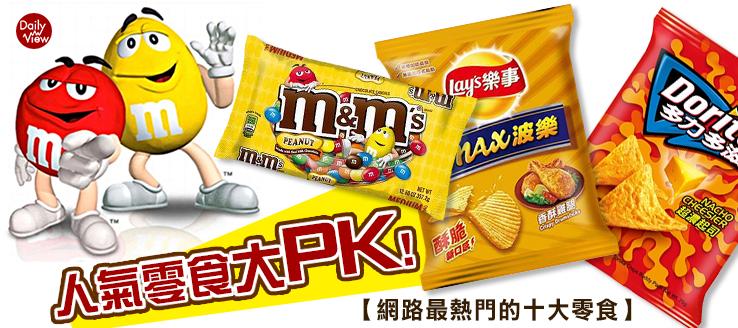人氣零食大PK!網路最熱門的十大零食!