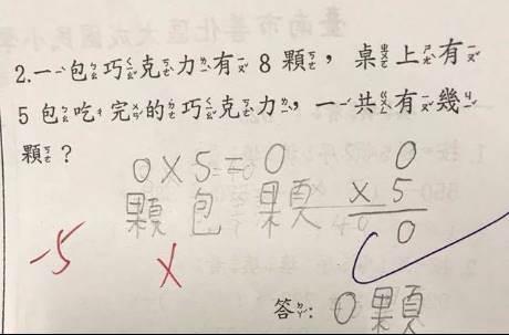 老師啟動陷阱卡!這題小學數學題全班錯 還考倒一票網友