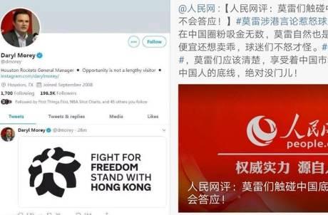 火箭總管發文挺香港 中國氣炸全面制裁
