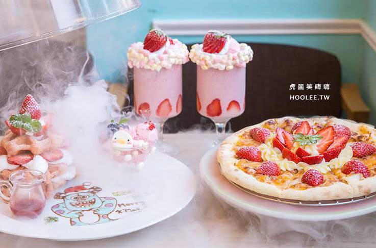 甜點控看過來!鬆餅店推超夢幻「草莓披薩」 網友狂喊太欠吃