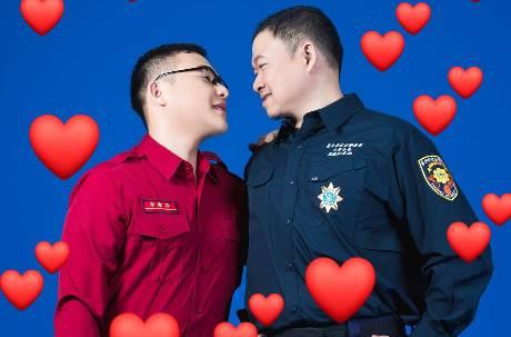 愛情長跑7年!警消界男同志步禮堂 感性呼籲「同性戀有成家權利」