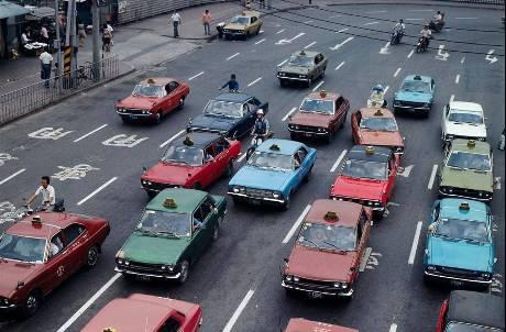 42年前老台北照片曝光 台灣計程車不是只有黃色!