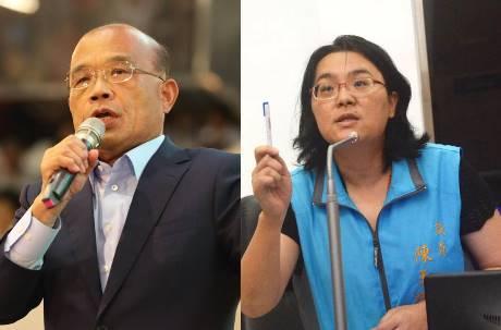 蘇貞昌批沒資格當立委 陳玉珍回嗆「我也不是台灣國的」