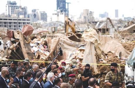 法國總理馬克宏見黎巴嫩慘況「呼籲改革」 逾5萬民眾連署:請法接手治理