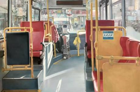 這是照片還是畫作?一張台灣公車街景讓鄉民吵翻天 真相曝光被推爆