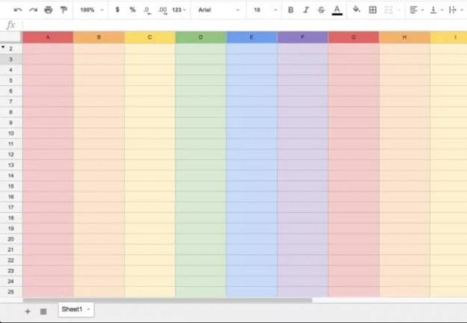 上班族心花開!輸這5個字 Google試算表一秒變彩虹