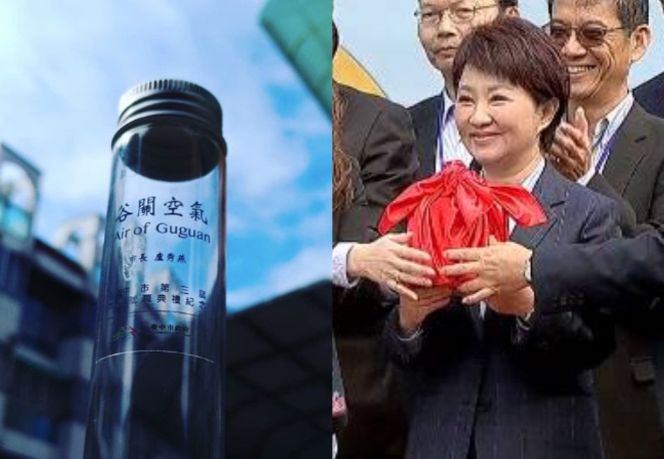 盧秀燕「空氣瓶」登聖誕最廢交換禮!網:誰送我就打到谷關吸到飽