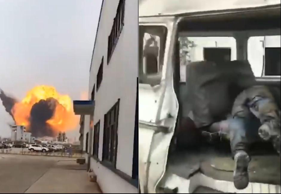 影/江蘇爆炸影片曝光!「轟」一聲炸出蕈狀雲、街道染血