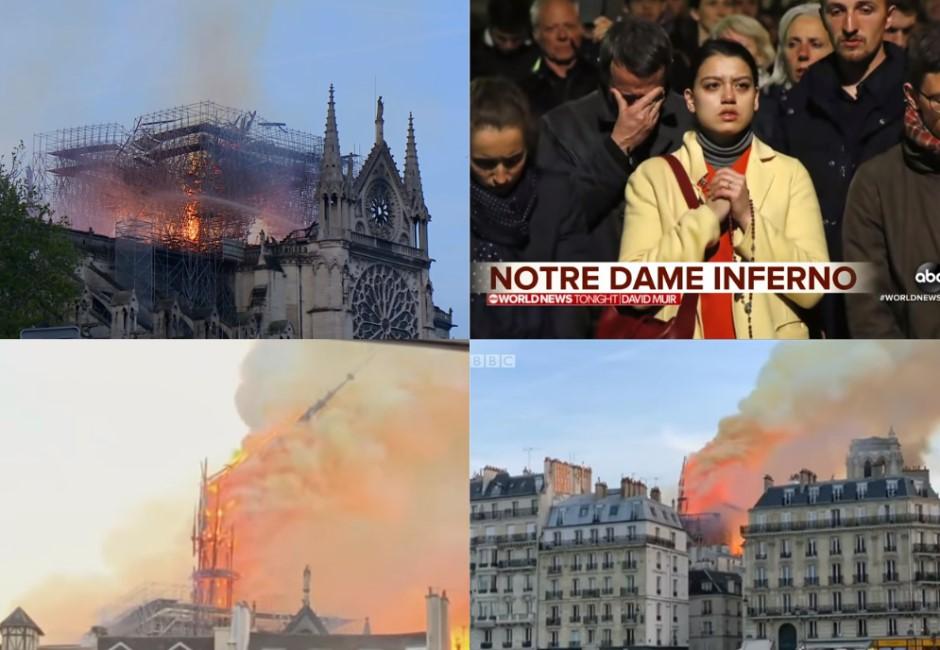 影/巴黎聖母院大火!尖塔倒塌民眾淚崩 15年前電影早預測