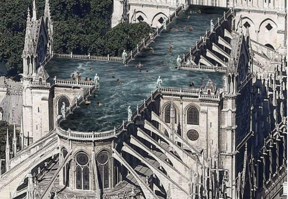 圖/新的巴黎聖母院長什麼樣?設計稿空中泳池、城市花園都入列