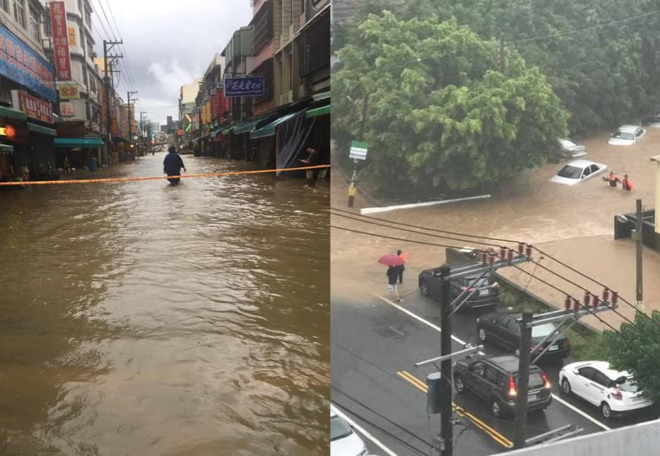 圖/豪雨狂襲新竹!水淹大腿災情不斷 客雅溪暴漲堪比蘇拉颱風