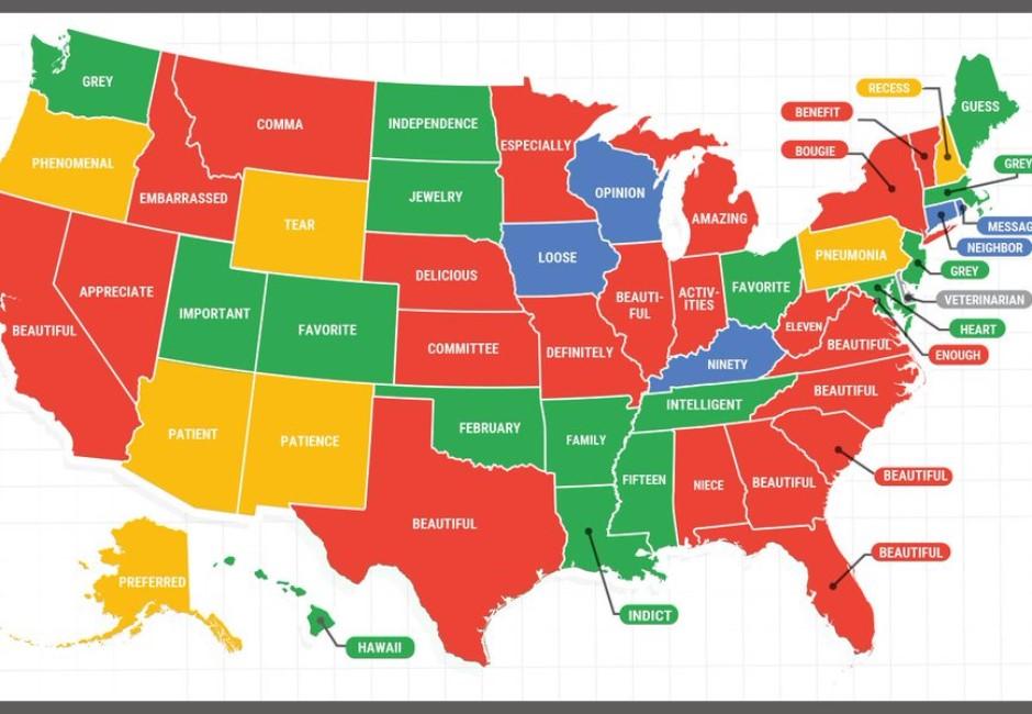 漂亮、好吃英文怎麼拼?Google曝美國人最不會拼的單字
