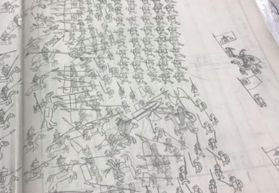 學生聯絡簿畫「千軍萬馬」!圖暗藏玄機網友籲:國軍招募官快來!