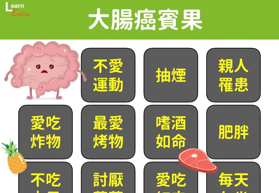重口味、不愛蔬果你中了嗎?營養師推「大腸癌賓果」網看心驚驚