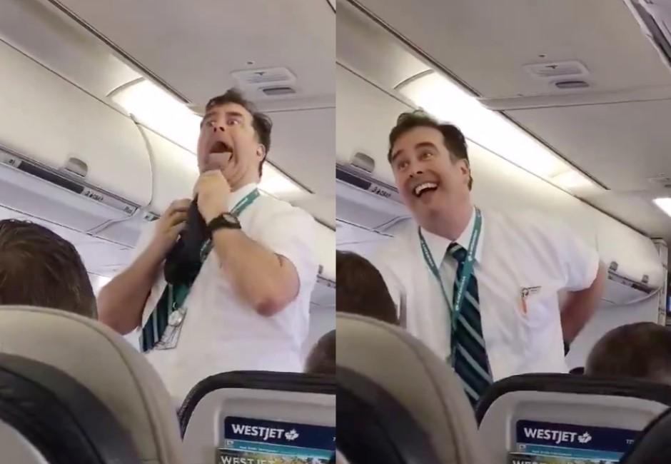 影/從沒看過的航空「安全須知」!空服員高空演默劇告訴你危險