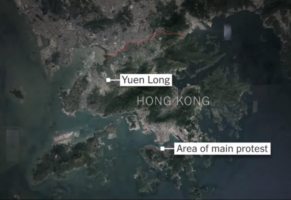 片/毆鬥傷人,警察走人!《紐約時報》談721香港元朗黑夜