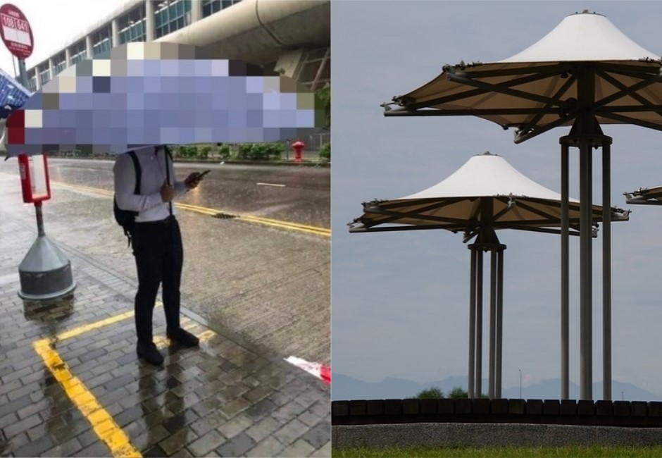 沒有人的比他大!襯衫男爽撐500萬傘 網驚:根本行動涼亭