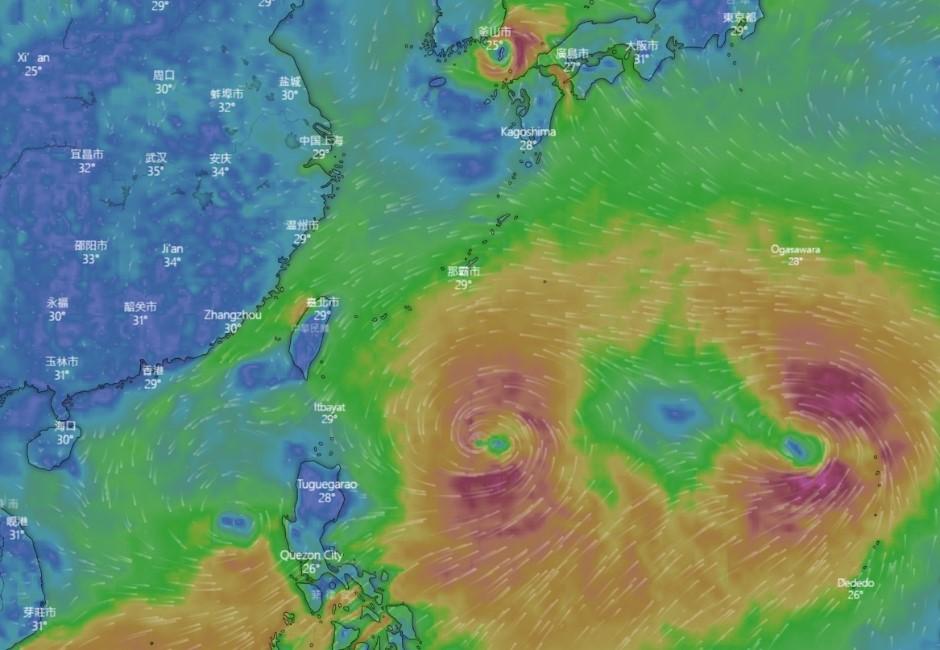 驚見四低壓環繞共舞!今年最強颱「利奇馬」北上…兩地區嚴防大雨