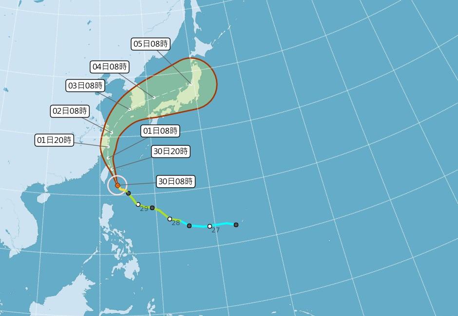 「米塔」逼近風雨越晚越強 30日全台停班課一覽表