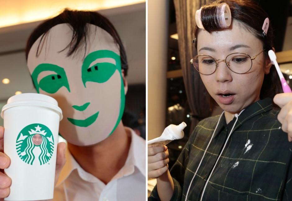 圖/神還原看完電影的人、吃飯上班族…日本「地味萬聖節」廢到笑