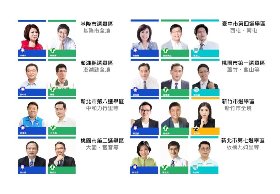2020藍綠誰能過半?歷史數據看10個立委關鍵游移選區