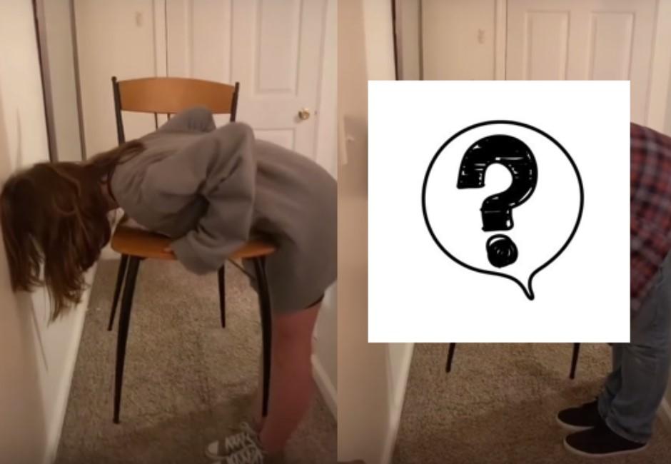 「椅子挑戰」掀模仿風潮!「只有女生做得到」男生哭哭