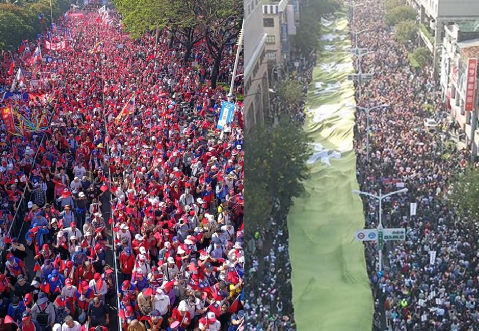 「挺韓」vs「罷韓」遊行較勁 大數據揭密到底哪個陣營佔上風