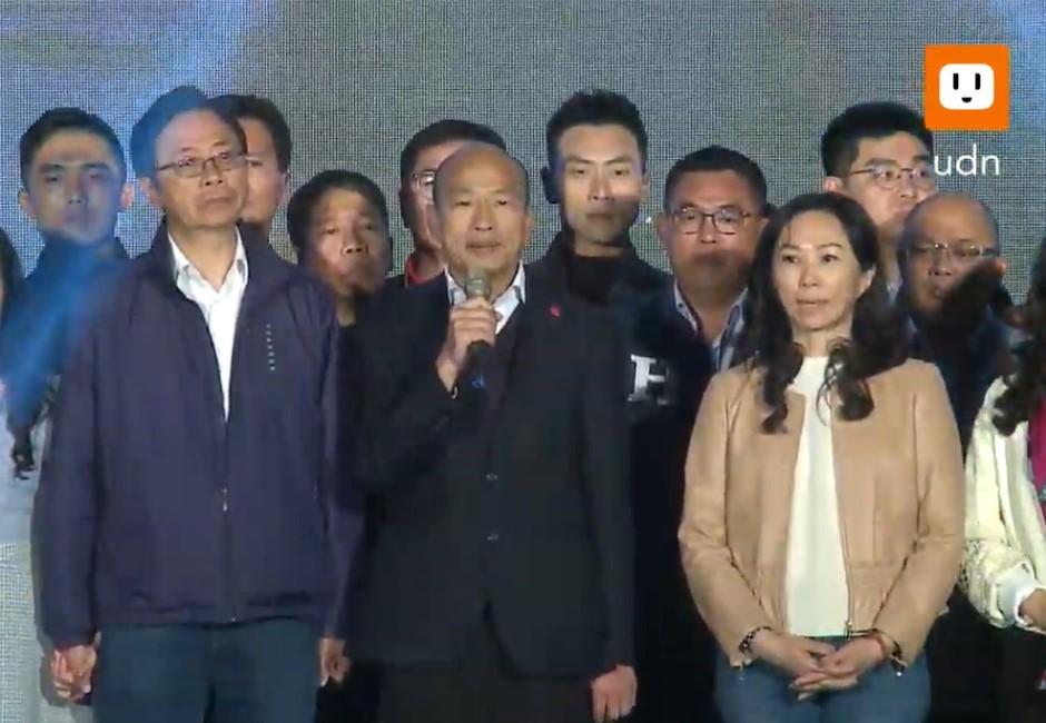 韓國瑜宣布敗選感言!感謝韓粉一路相挺「星期一回市府上班」