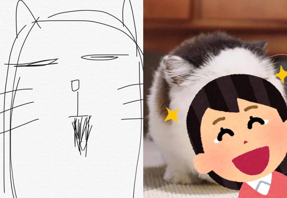 他用超狂「印象派」圖請網友協尋貓還真的找到 網笑歪:靈魂畫家