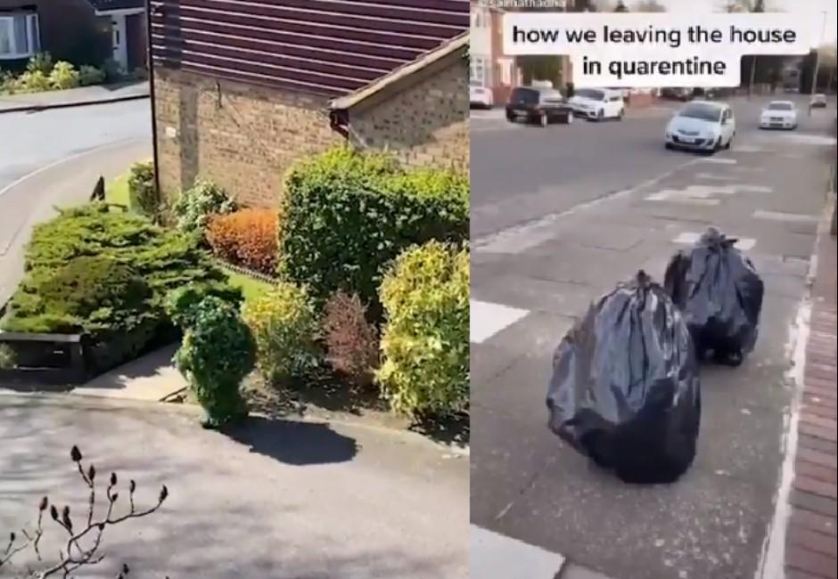 英國人狂秀下限!假扮「灌木叢、垃圾袋」堅持要出門