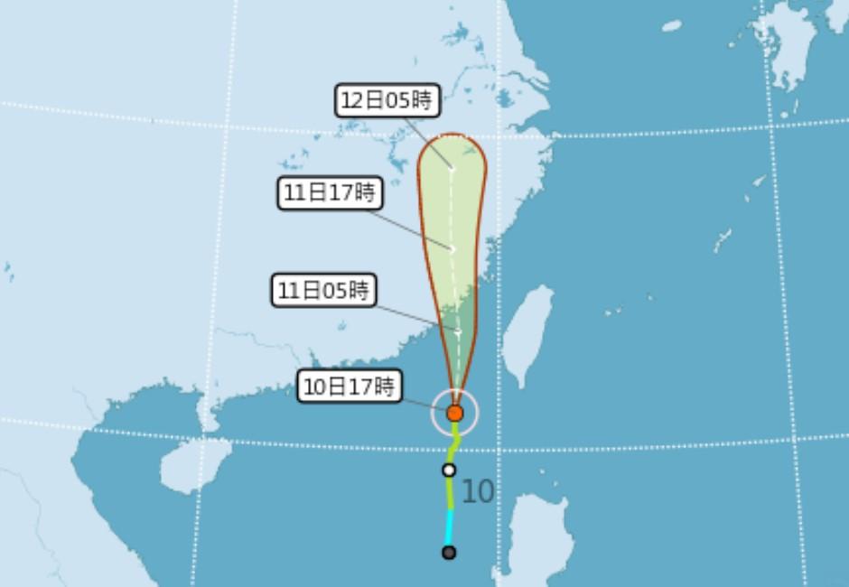 最新/颱風米克拉來襲!金門11日停班停課 全台颱風假一覽表