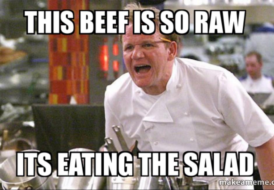 「這個牛肉生到牠在吃沙拉裡的菜了!」地獄廚神戈登拉姆齊「飆罵金句回顧」