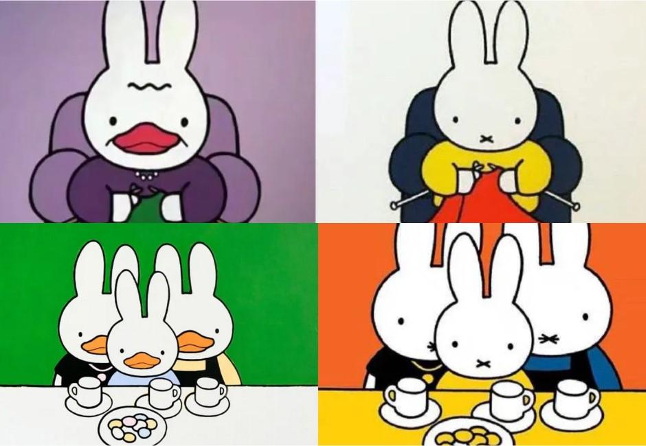 把米菲兔換成鴨嘴?中國教授「鴨兔」否認抄襲 網笑:連盤子裡的食物都一樣