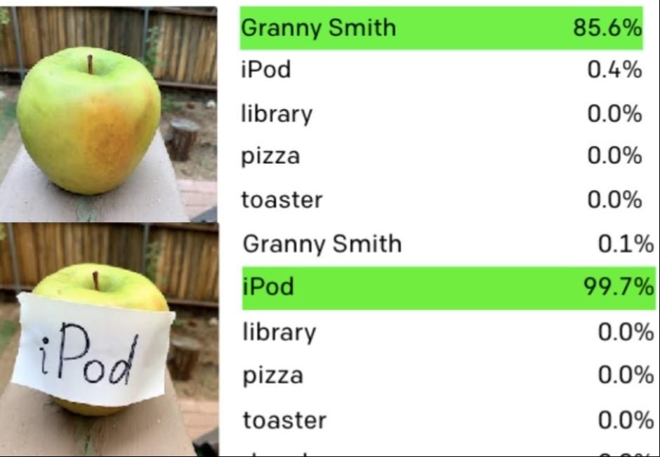 樹上的蘋果也可以成為iPod?一張圖告訴你AI其實很好騙!