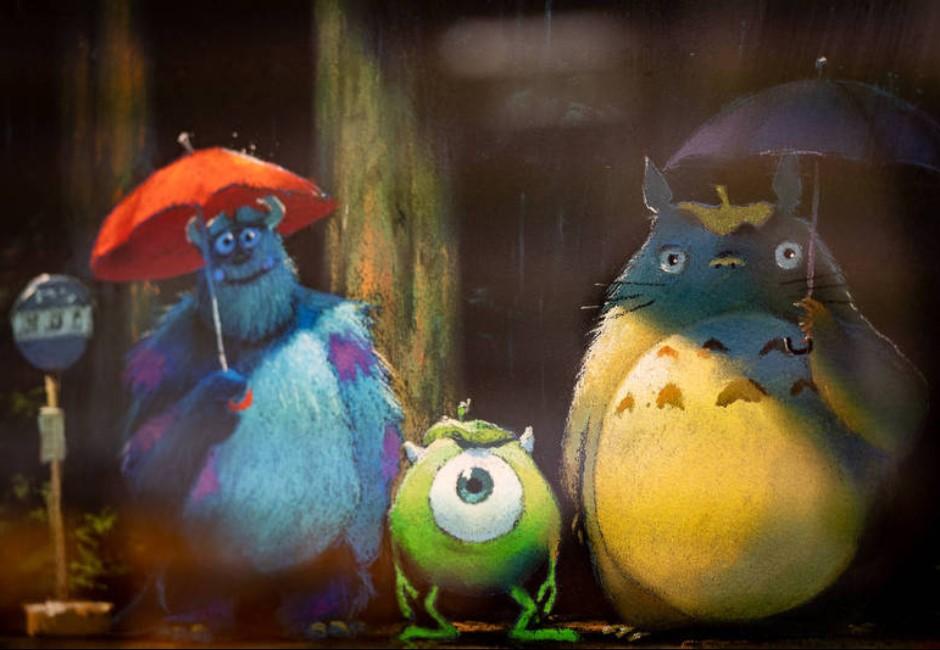 吉卜力跟皮克斯合作?官宣發「龍貓和大眼仔合照」網嗨翻:人生最愛電影