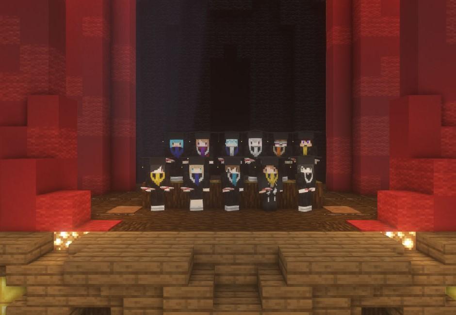 最潮線上畢典!超人氣遊戲冠軍Minecraft 禮堂地圖、學士袍免費下載