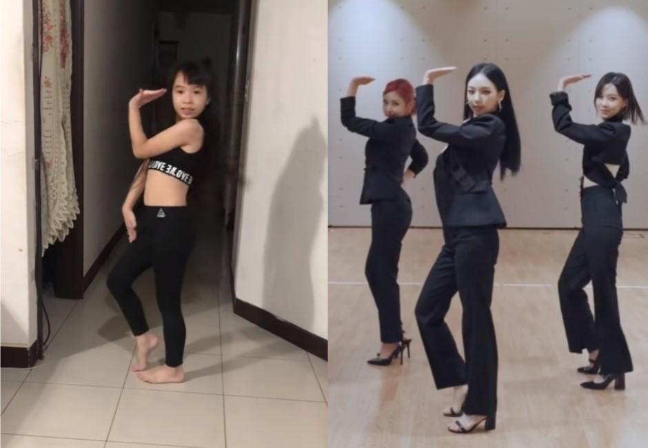 7歲妹自學韓團超夯「ㄈㄈ舞」!《Next Level》音樂一下 網驚:出道會紅