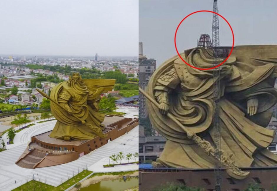 豪灑7億!全球最大關公雕像上線 荊州又因違建再花6億「斬首」