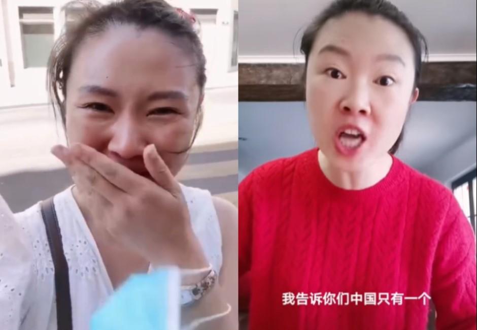 出國見中國銀行好驕傲!大媽網紅噴淚嗆台灣 反被小粉紅罵:丟臉